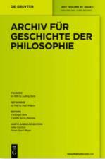 Archiv für Geschichte der Philosophie Abo