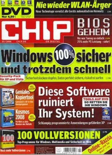 3 Ausgaben Chip inkl. DVD für 18,30 € mit 15,00 € Universalgutschein