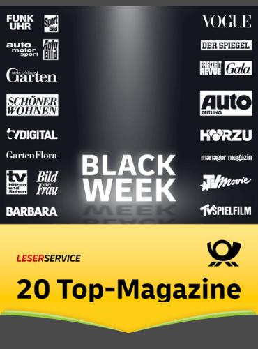 Black Week beim Leserservice der deutschen Post