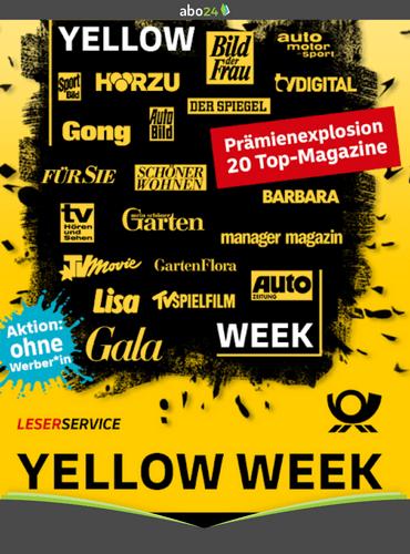 Yellow Week beim Leserservice der deutschen Post
