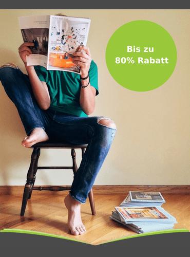 Zeitschriften Abo günstig durch Rabatt bis zu 80%