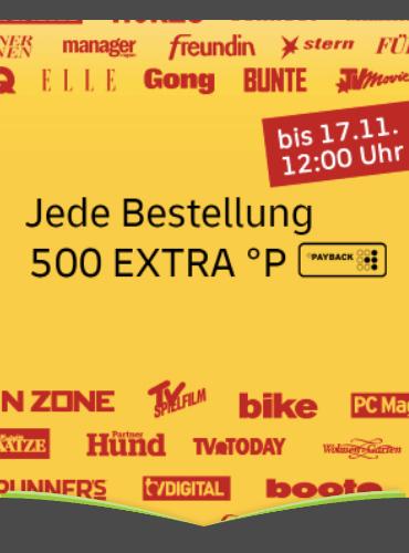 500°P EXTRA auf alle Abos* vom Leserservice der deutschen Post