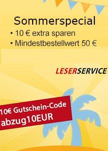 10,00 € sparen beim LESERSERVICE Sommerspecial