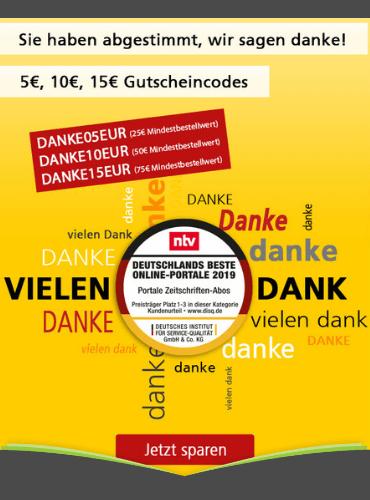 Bis zu 15,00 € sparen beim Leserservice der deutschen Post