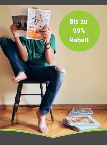 Zeitschriften Abo günstig durch Rabatt bis zu 99%