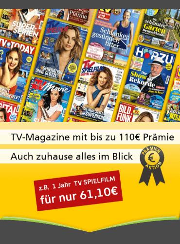 TV-Zeitschriften mit Rabatt und erhöhten Prämien