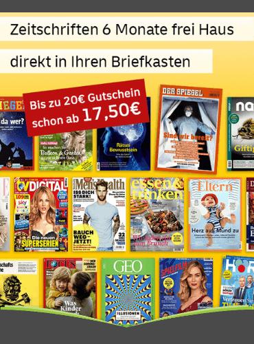 Bis zu 20,00 € Prämie bei allen Halbjahresabos des Leserservice